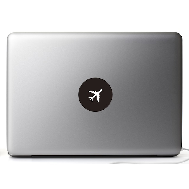 【USticker】☆MacBook創意貼紙☆ 飛翔Airplane -MacBook全系列適用