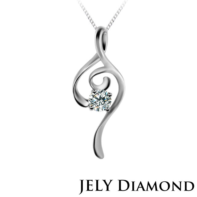 【JELY Diamond】MUSIC LOVE 0.30克拉美鑽項鍊