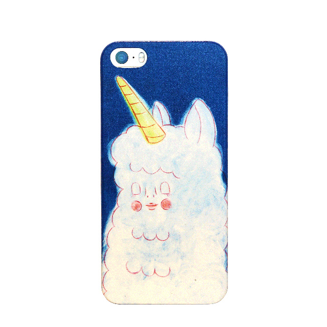 【OVERDIGI】Fluffy Unicorn for iPhone5/5s 藍
