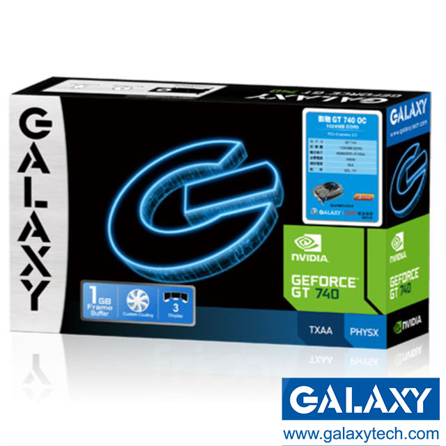 【影馳 galaxy 】gt740 oc 1gb ddr5