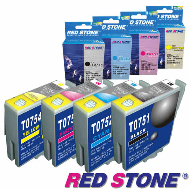 【RED STONE 】for EPSON T0751.T0752.T0753.T0754墨水 (四色一組)優惠組