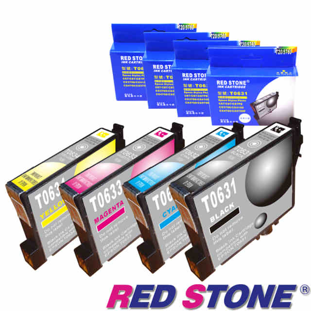 【RED STONE 】for EPSON T0631.T0632.T0633.T0634墨水 (四色一組)優惠組