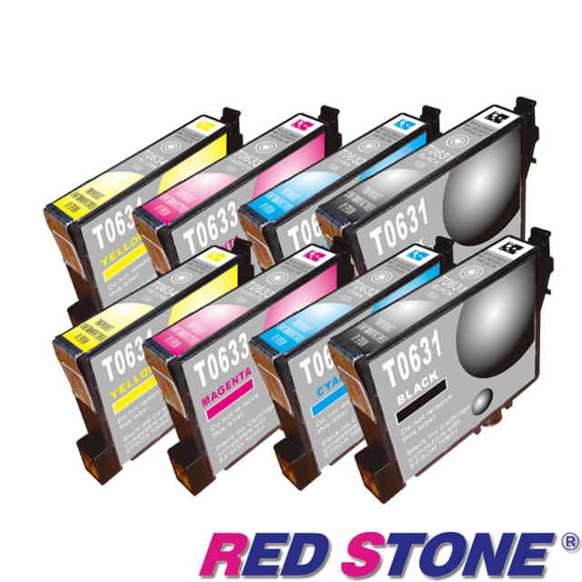 【RED STONE 】for EPSON  T0631.T0632.T0633.T0634墨 (四色一組)/2組裝