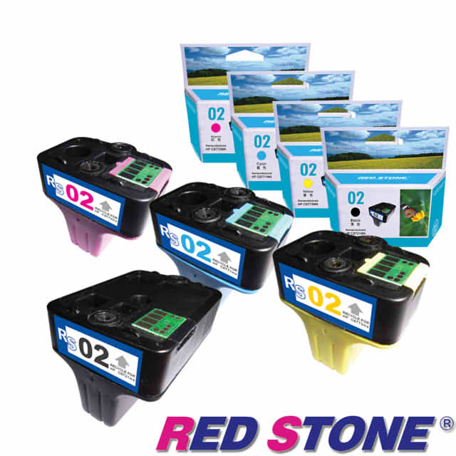 【RED STONE 】for HP C8721WA+C8771WA~C8773WA墨水匣NO (四色一組)優惠組