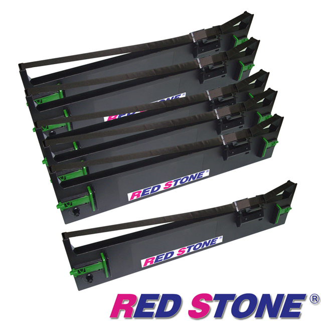 【RED STONE 】for EPSON S015611/LQ690C黑色色帶組 (1組6入)