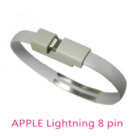 手環式Apple Lightning 8Pin USB充電傳輸線(灰色)