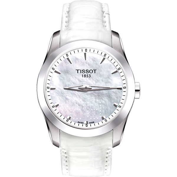 【TISSOT】Couturier 建構師Date珍珠貝女錶 T0352461611100