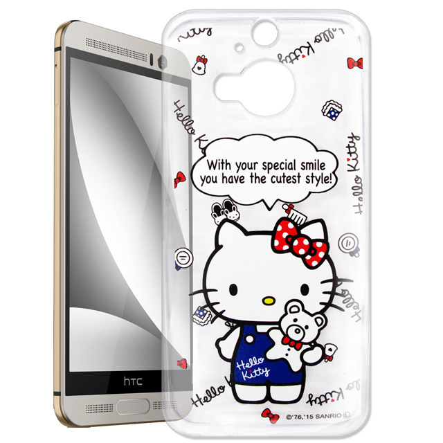 【Hello Kitty】hTC One M9+ M9 Plus 透明 手機軟殼(Kitty公仔)