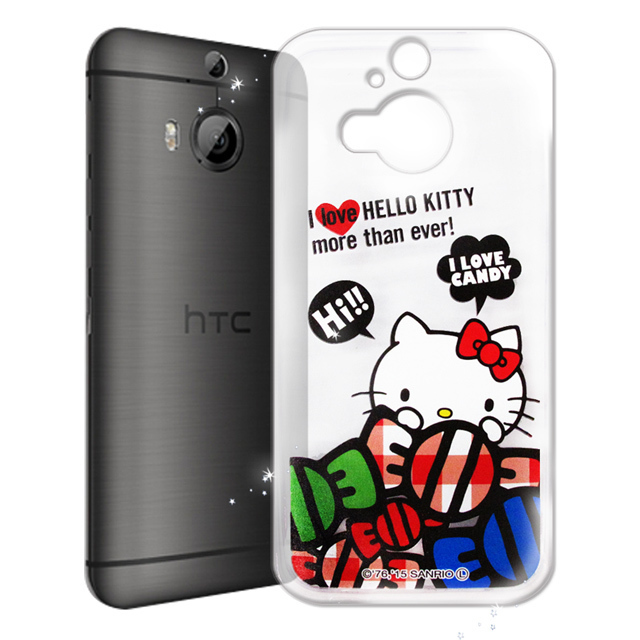 【Hello Kitty】hTC One M9+ M9 Plus 透明 手機軟殼(糖果HI)