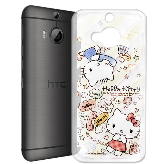 【Hello Kitty】hTC One M9+ M9 Plus 透明 手機軟殼(熱線KITTY)