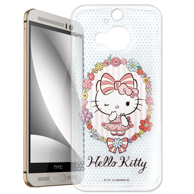 【Hello Kitty】hTC One M9+ M9 Plus 透明 手機軟殼(花邊Kitty)