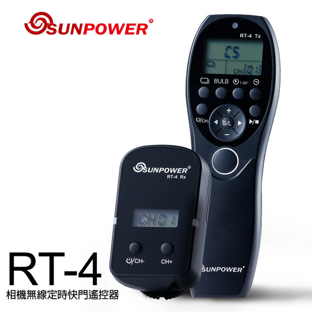 【sunpower】rt-4 相機無線定時快門遙控器 - 配快門連結線