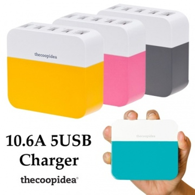 【thecoopidea】 Power Block 5埠 USB充電器
