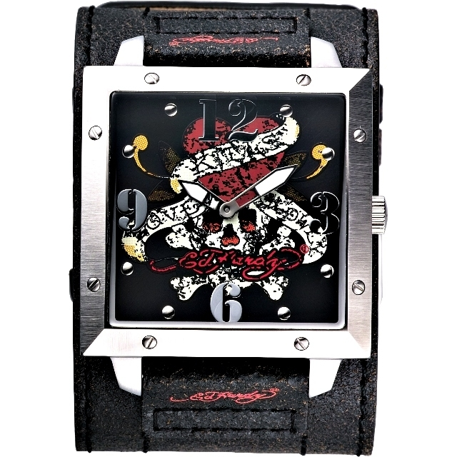 【Ed Hardy Love 】Kills Slowly 寬版仿舊皮帶錶 WA-LK