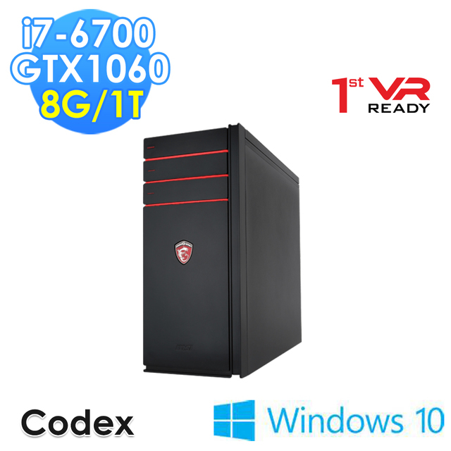 【msi微星】Codex-017TW i7-6700 GTX1060 WIN10(電競桌機)