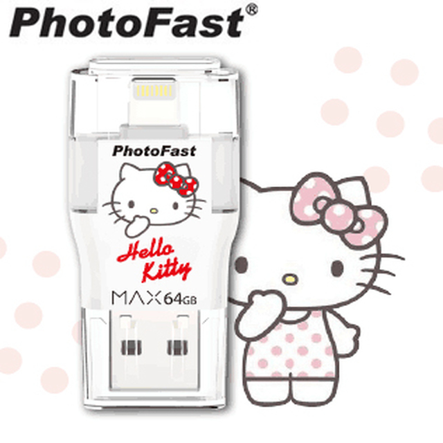 【PhotoFast】i-FlashDrive MAX Hello Kitty USB2.0 (32G)隨身碟