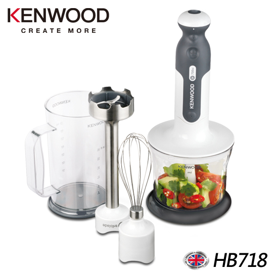 【英國 Kenwood】Triblade手持食物攪拌棒 HB718 (四件組)
