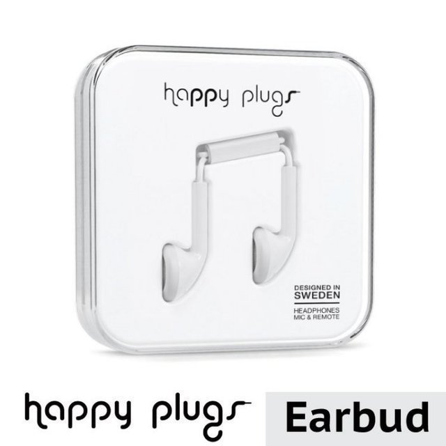 【happy plugs】Earbud 耳塞式耳機 -白色