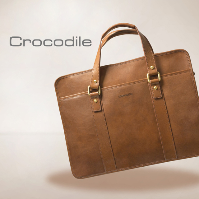 【Crocodile】Natural Collection 簡約商務包 0104-58072