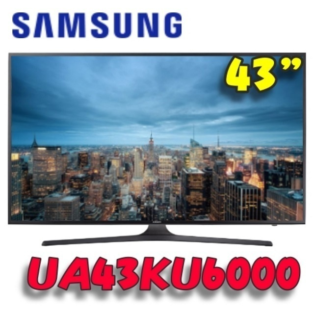 【Samsung 三星】43吋4K UHD LED TV UA43KU6000 領券再折