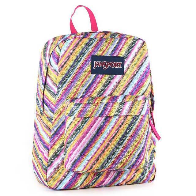 【JanSport 】校園背包(SUPER BREAK) 彩色蠟筆