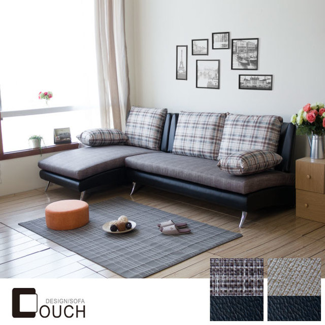 【 COUCH】Pack。派克L型布沙發 (2色)