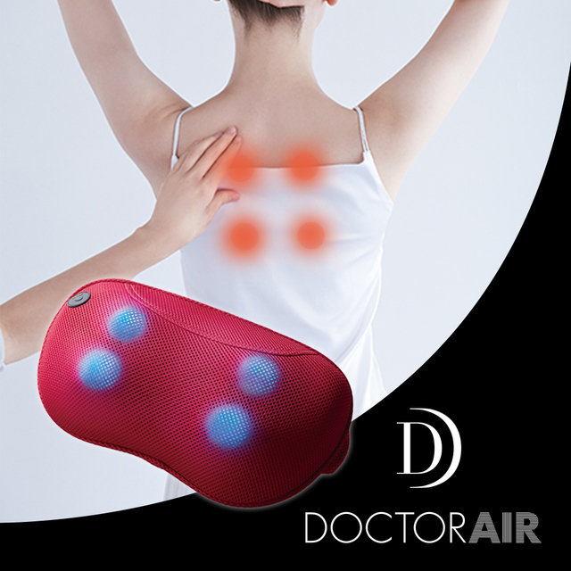 【DOCTOR AIR】3D按摩枕 紅色