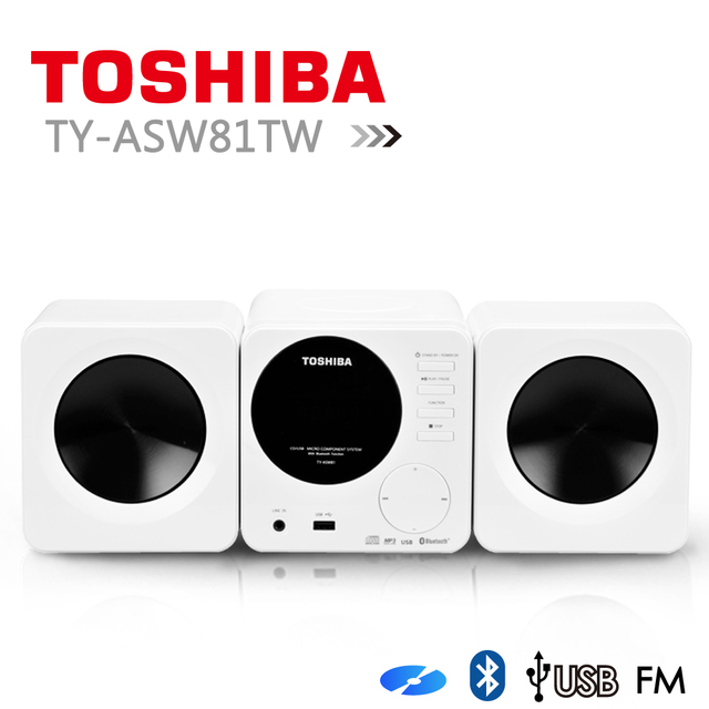 【toshiba】cd/mp3/usb/藍芽組合音響  ty-asw81tw