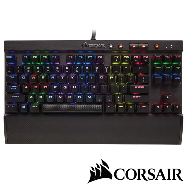 【CORSAIR】Gaming K65 RGB機械電競鍵盤 銀軸中文