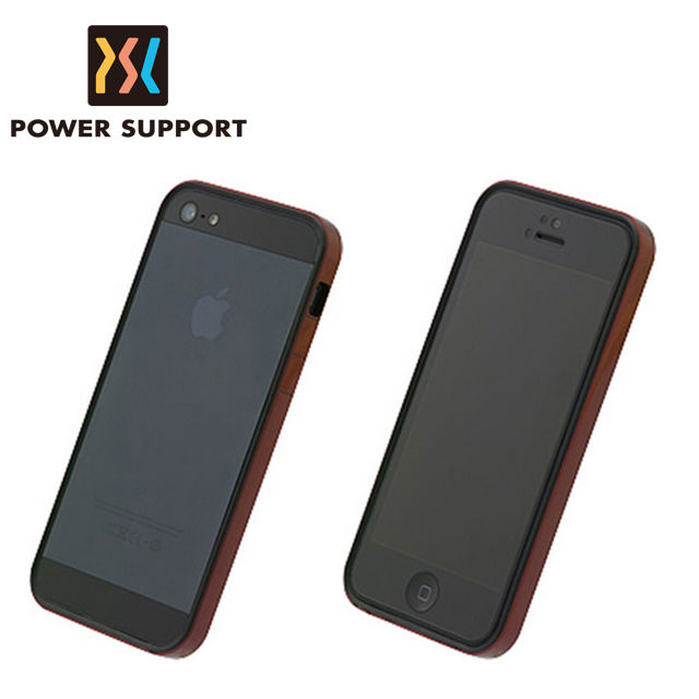 【POWER SUPPORT】iPhone5/5S Flat Bumper 保護邊框 金屬紅款