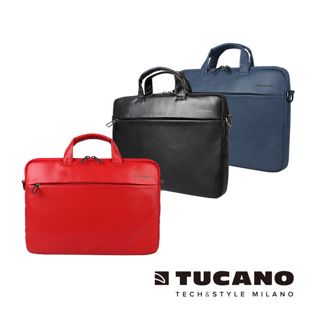 【TUCANO】Fina Premium MacBook 13吋 義大利真皮側背包