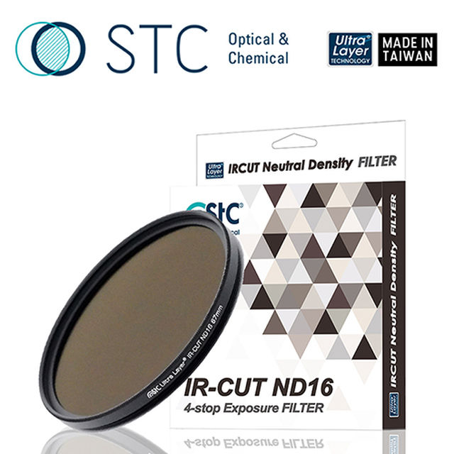 【STC】IR-CUT 4-stop ND16 Filter 67mm 零色偏ND16減光鏡