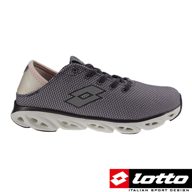 【LOTTO 義大利】AIR FLOW-RELAXED 女風動跑鞋 灰紫-LT7AWR5518