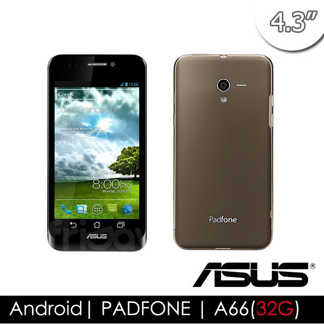 【ASUS華碩】 PadFone A66 (1G/32G) 智慧手機