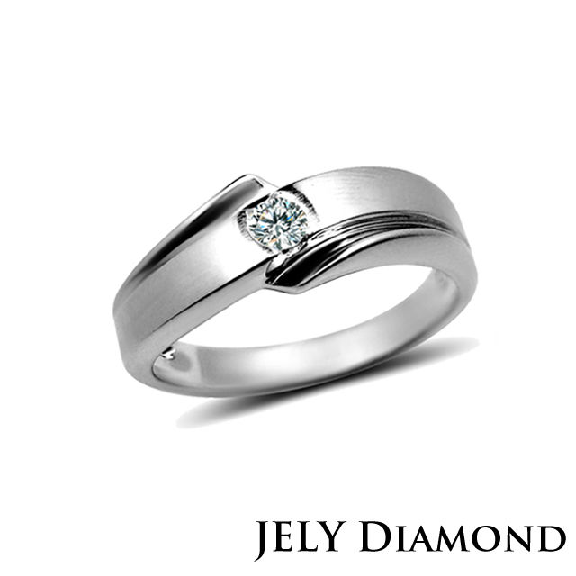 【JELY Diamond】 LOVE STORY 10分經典美鑽戒-男