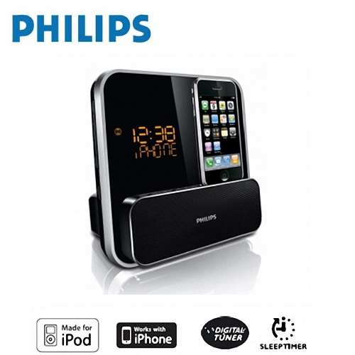 【PHILIPS】飛利浦 iPod / iPhone鬧鐘收音機 DC315