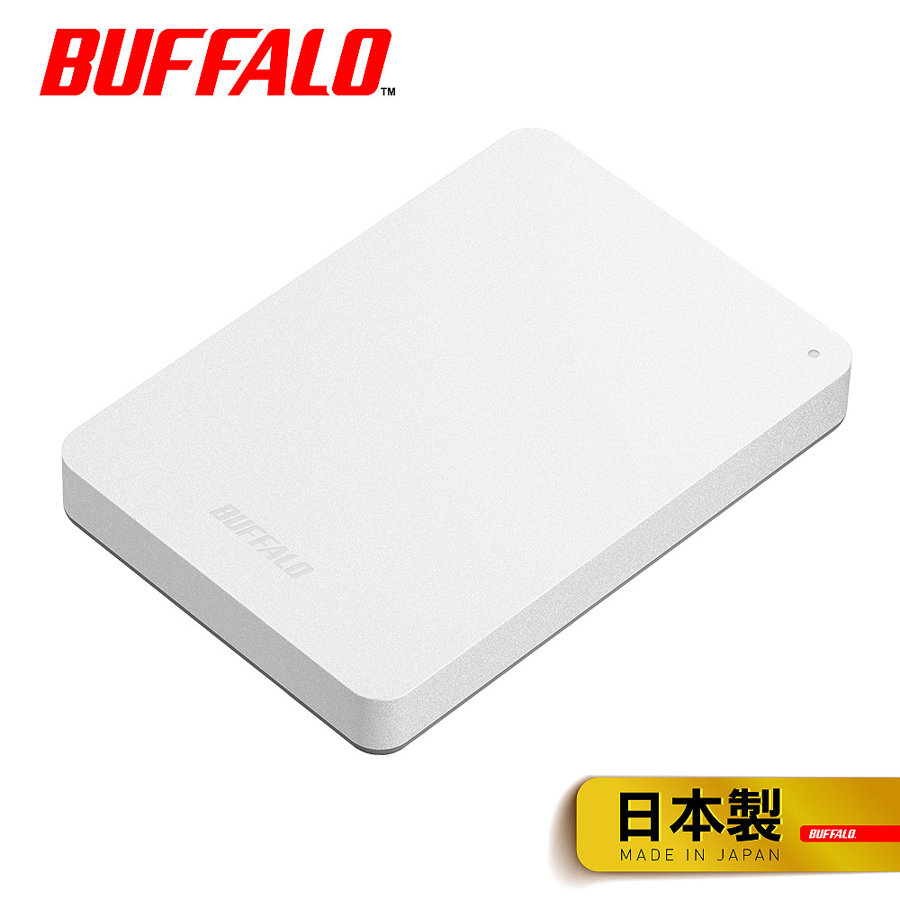 【Buffalo 】HD-PNF1.0U3-BW 1TB 2.5吋外接硬碟(白)
