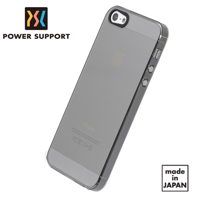 【POWER SUPPORT】iPhone5/5S Air Jacket 超薄保護殼 透黑款