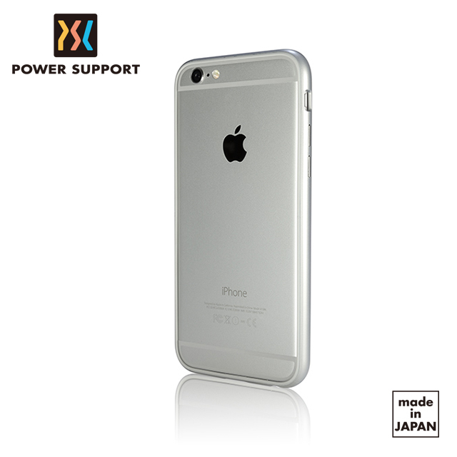 【POWER SUPPORT】iPhone6 Flat Bumper 保護邊框 銀色款