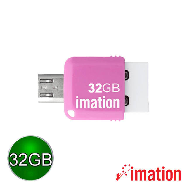 【Imation】Mini OTG 2.0 32GB(粉紅) IMN-JP2-32-PK