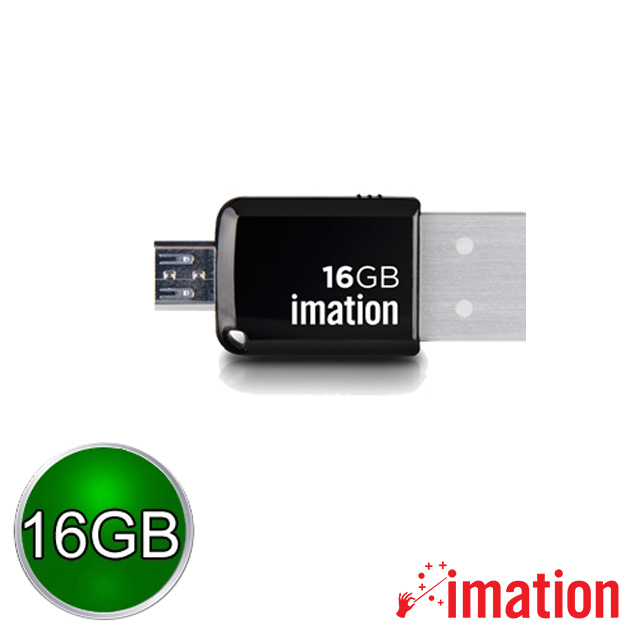 【Imation】Mini OTG 3.0 16GB(黑) IMN-USB3-16-BK