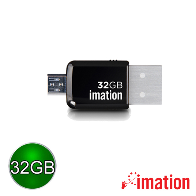 【Imation】Mini OTG 3.0 32GB(黑) IMN-USB3-32-BK
