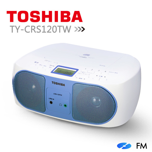 【TOSHIBA】CD音樂/line in手提音響 TY-CRS120TW