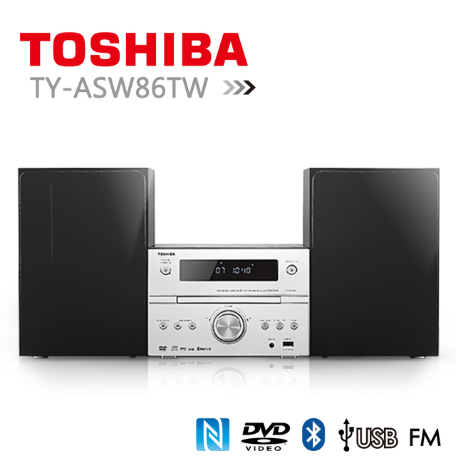 【toshiba】福利品dvd/mp3/usb/藍芽床頭音響 ty-asw86tw