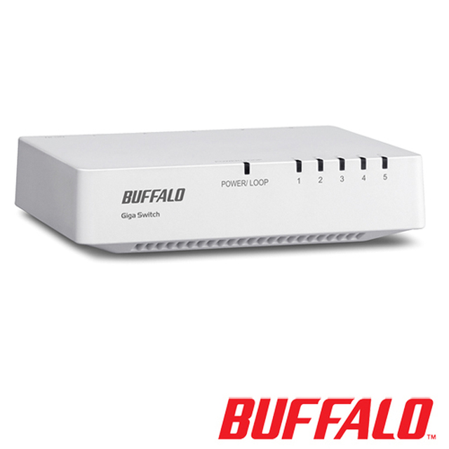【buffalo】5埠交換器lsw4-gt-5ep-tw