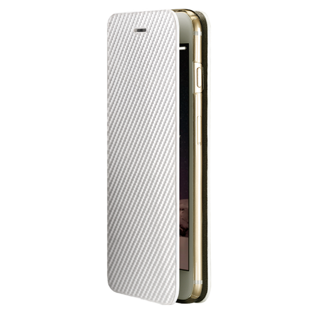 【monCarbone】碳纖維保護殼 for iPhone 6s (Portfolio 珍珠白)
